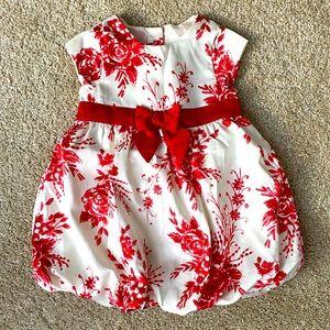 Crazy 8 Formal Rose Print Satin Dress 6-12 month